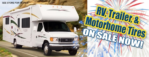 RV, Trailer & Motorhome Tires on SALE NOW!