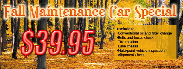 Fall Maintenance Car Special